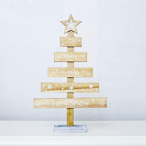 Very Merry Christmas Party Button - BOLUOYI Christmas Decorations Sale,Wooden Mini Christmas Tree Desktop Ornaments Merry Christmas Party Decor