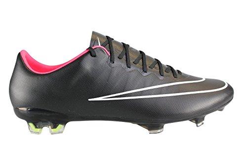 Nike Men's Mercurial Vapor X FG - (Black/Hyper punch/Black) (8.5) (Nike Elastico Sock)