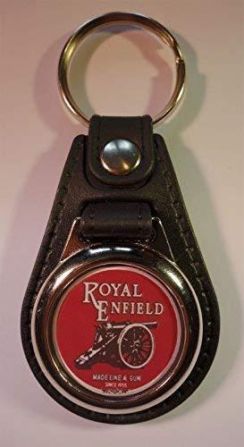 Calidad Superior Imitación Cuero Royal Enfield Moto Llavero / Mando