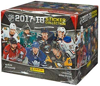 - Panini NHL All Teams 2017/18 Sticker Refill Box (50 Count), Small, Black