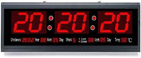 reloj de pared Digital LED Grande, Pantalla Digital Grande, luz Nocturna silenciosa, sincronización precisa, Adecuado para Espacio de Oficina, Sala de Estar Grande, Taller: Amazon.es: Hogar