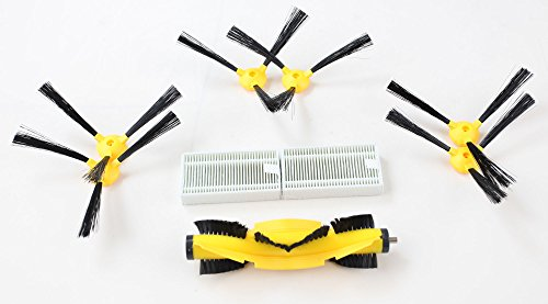 Liectroux Robot Vacuum Cleaner B6009 Spare Parts, 6PCS of Side Brushes, Two HEPA Filters, One Roller Brush/Pack