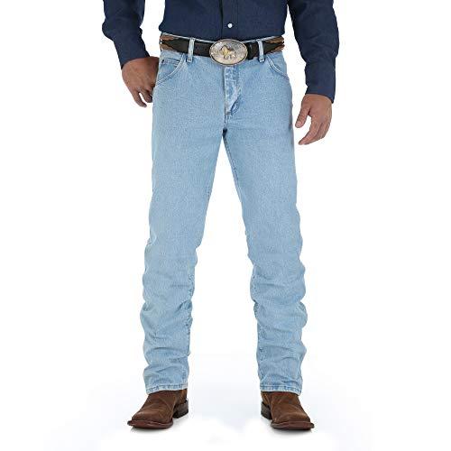 Wrangler Men's Premium Performance Cowboy Cut Regular Fit Jean, Bleach Wash, 36W x 30L (Regular Wranglers Fit Mens Jeans)