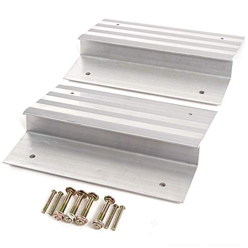 2 PCS Heavy Duty 12'' Aluminum Ramp Top/End Set with Mounting Hardware (Boards Not Included) by [Fengo] (Image #1)