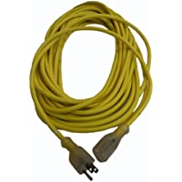 16 Gauge Extension Cord, Fits ProTeam Backpack Vacuums, 3 Conductor, 50 Length, Yellow