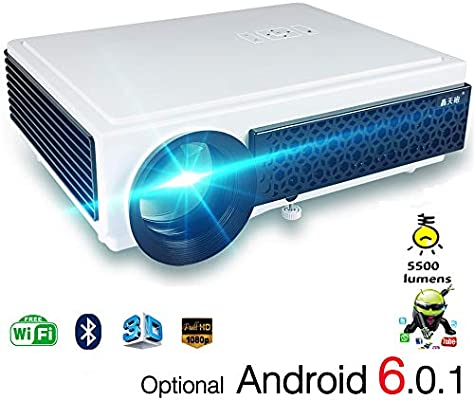 LQQZZZ Proyector Wi-Fi HD, Proyector 1080P Android 6.0 ...