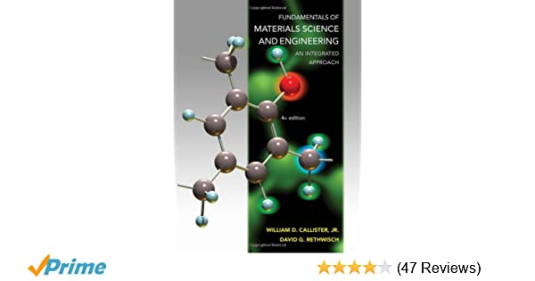 Amazon Com Fundamentals Of Materials Science And Engineering An