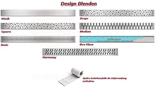 Duschablauf Bodengleich design dusch ablauf rinne ebenerdig linear flach edelstahl fliese