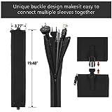 124pcs Cord Management Organizer Kit 4 Cable Sleeve