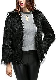 Amazon.com: Black - Fur & Faux Fur / Coats Jackets & Vests