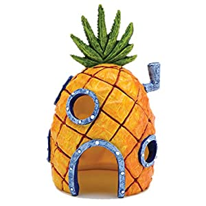 Nickelodeon's SpongeBob SquarePants Small 6 Inch Pineapple House Aquarium Ornament from Penn Plax - Durable Resin Safe for All Fish - SBR10 53