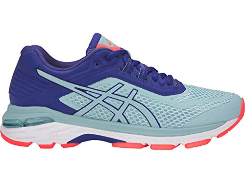 ASICS Women's GT-2000 6 (D) Running Shoes, 7W, Porcelain Blue/Porcelain Blue/