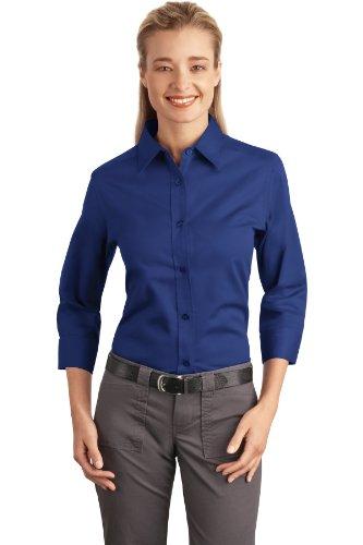 Port Authority Women's 3/4 Sleeve Easy Care Shirt 3XL Mediterranean Blue