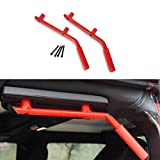 Dromedary 2/4 Door Rear Grab Bar for 2007-2017 Jeep Wrangler One Pair Red