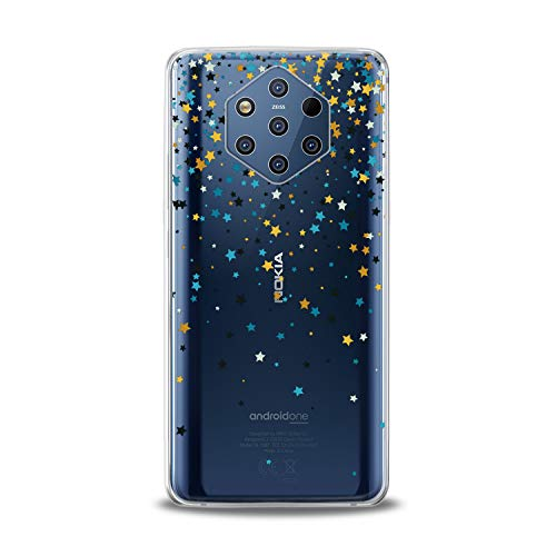 Lex Altern TPU Case for Nokia 9 PureView 8.1 Plus 7.1 6.1 X6 5.1 3.1 Gentle Stars Gift Clear Tender Soft Colored Slim fit Starfall Print Galaxy Flexible Lightweight Smooth Space Cover Design Awesome -