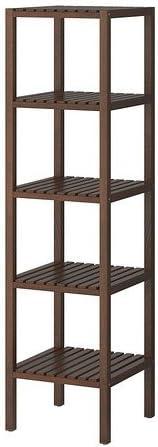 Ikea Molger Regal In Dunkelbraun Amazon De Kuche Haushalt