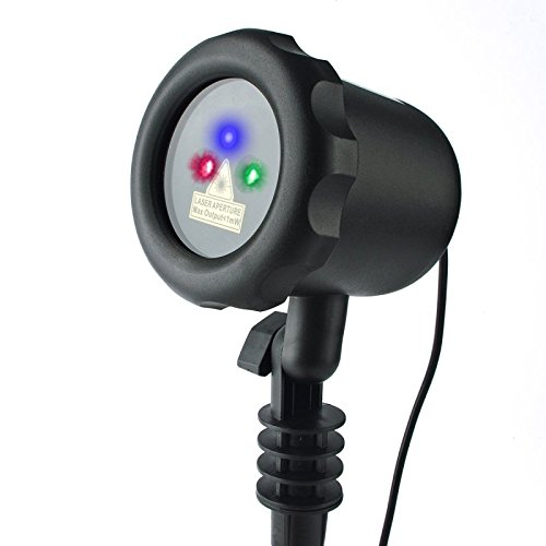 RGB with Red and Green Laser and Blue LED Remote Control LedMall Laser Christmas Lights, Garden and Landscape Lights