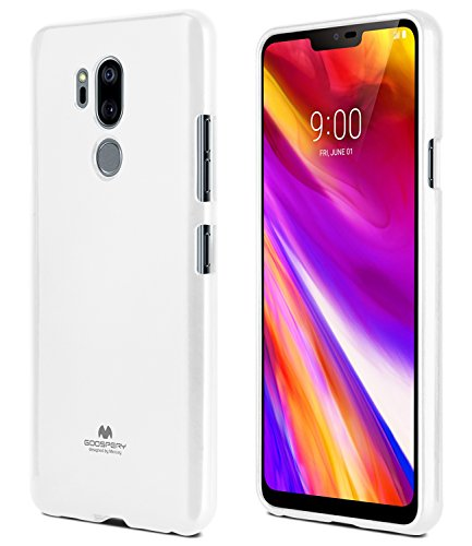 LG G7 ThinQ Case, [Thin Slim] GOOSPERY [Flexible] Color Pearl Jelly Rubber TPU Case [Lightweight] Bumper Cover [Impact Resistant] for LG G7 ThinQ (White) G7-JEL-WHT