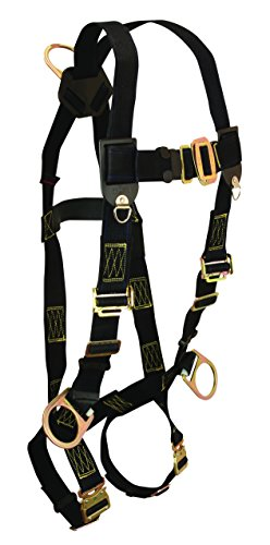 FallTech 7039 WeldTech Non-belted Full Body Harness with 3 D-Rings, Quick-Connect Leg and Mating Buckle Chest Straps, Universal Fit -