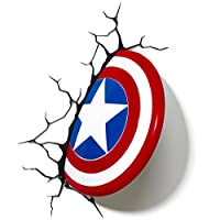 3DLightFX Marvel Avengers Capitán América 3D Deco Light