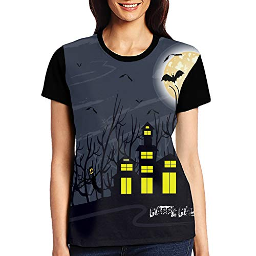 Halloween Night Short Sleeve Women Top Tee Shirts