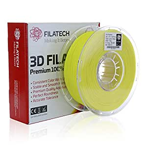 Filatech PLA Filament, Lum. Yellow, 1.75mm, 1KG