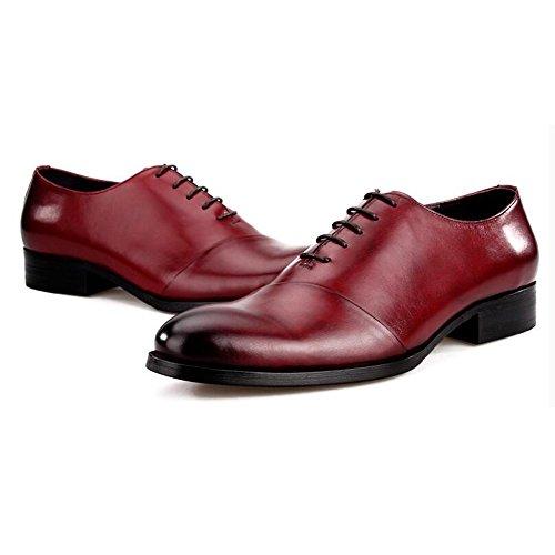 Scarpe Da Uomo Per Il Tempo Libero In Pelle Tendine Dress Autunno Business Wedding Moda Slip On Marrone-nero Rosso