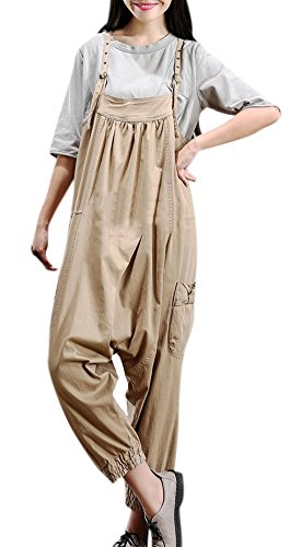 Youtobin Women's Denim Waist Wide Leg Elastic Pants Baggy Harem Trousers L - To Beckham Where Victoria Buy
