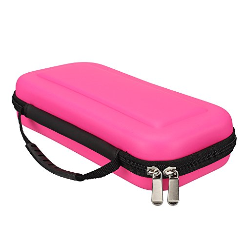 ElementDigital Switch Travel Carrying Case Protective Hard Storage Bag Carry Pouch with 10 Game Cartridges Card Holders Slots for Nintendo Switch (Pink)