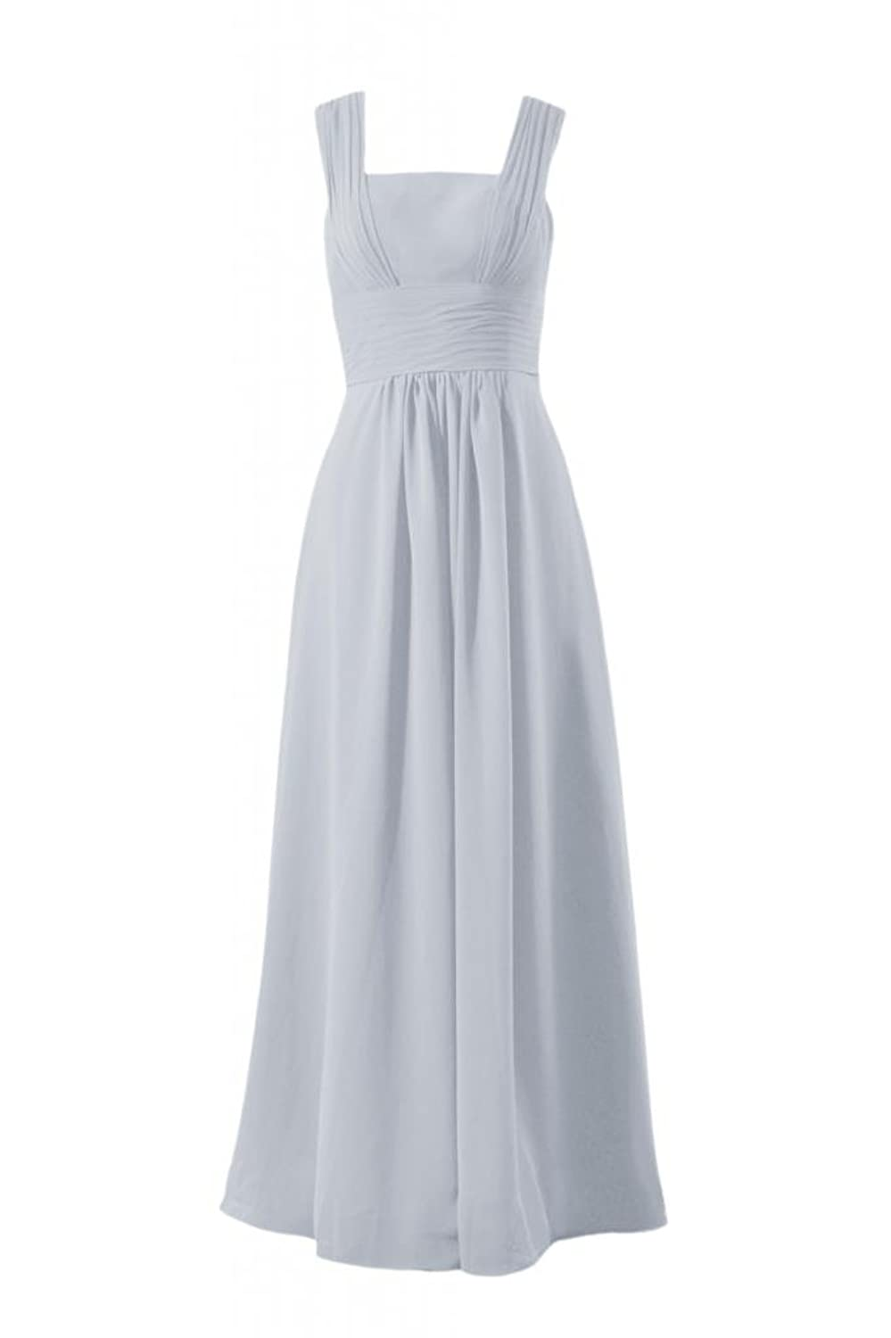DaisyFormals Square Neckline Bridesmaid Dress Long Chiffon Evening Dress(BM9826)
