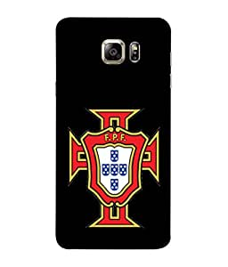 ColorKing Football Portugal 09 Black shell case cover for Samsung S6