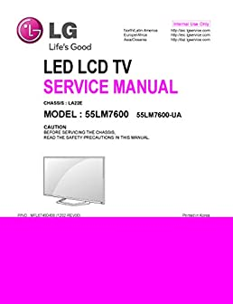 lg 55lm7600 55lm7600ua service manual service manual for repairs rh amazon com lg 32lg3000 lcd tv service manual & repair guide lg lcd service manual