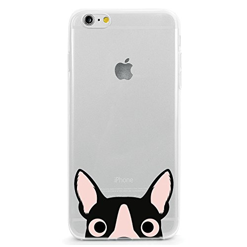 TPU Clear Case for iPhone 5 or iPhone 5s - Boston Terrier Dog Puppy Animal