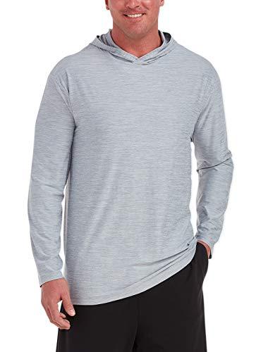 Amazon Essentials Men's Tech Stretch Long-Sleeve Pullover Hoodie, Light Grey Heather, 6XLT