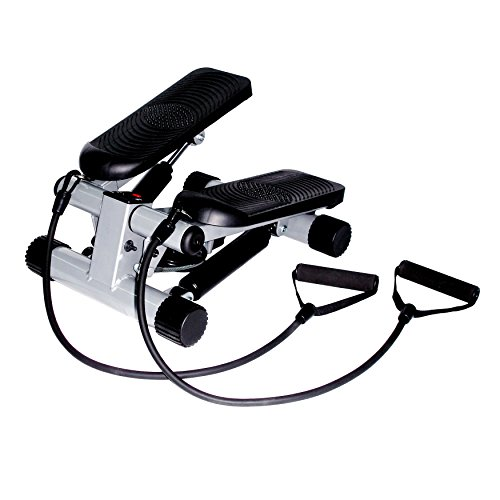 Sunny Health & Fitness Mini Stepper with Resistance Bands ()