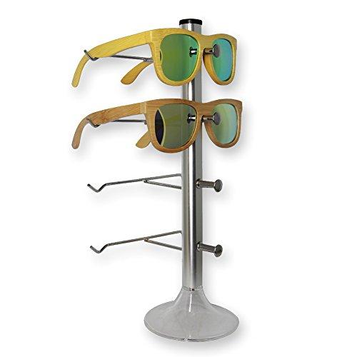 Northstores Home Sunglasses Holder Aluminium Alloy Sunglasses Hut for 2-4 - Sunglasses Aluminium