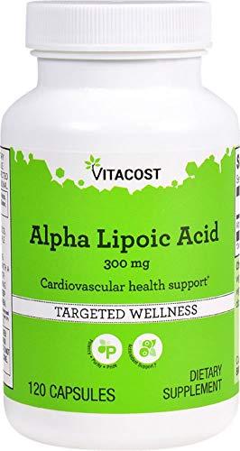 Vitacost Alpha Lipoic Acid 300-Milligram Capsules, 120 Capsules Per Bottle Alpha Lipoic Acid Enhancer