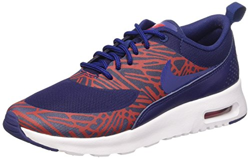 Nike Women's Air Max Thea Print Lyl Blue/Lyl Bl/University Red/Wht Running Shoe 5.5 Women US