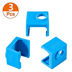 3d printer mk10 silicone socks, aokin 3 pcs mk10 heater block silicone cover for wanhao duplicator i3 makerbot 2 qidi tech flashforge, blue