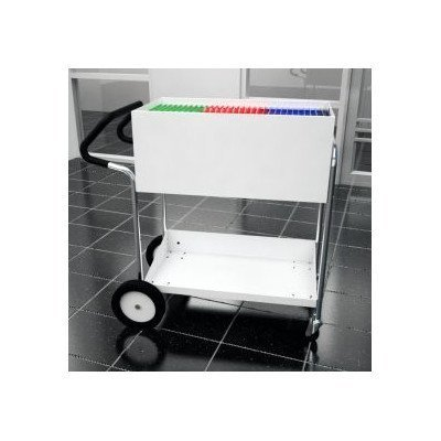 Charnstrom Medium Solid Metal Cart with 10-Inch Rear Tires and Easy Push Handle (B241E) by Charnstrom