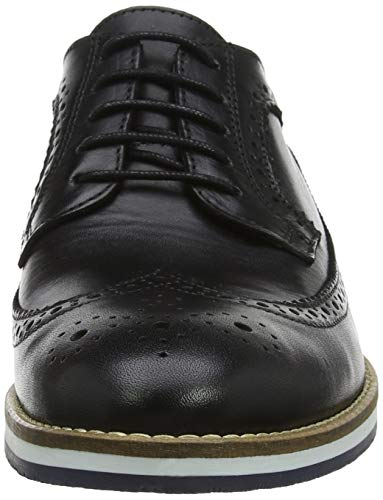 Scarpe Black Nero Stringate Uomo Bertie Brouge Leather Bakers Leather Black B5qYxpng