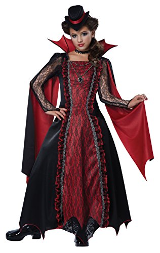 California Costumes Victorian Vampira Child Costume, Medium (Goth Halloween Costumes For Kids)