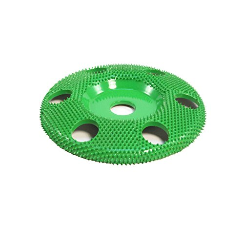 4'' Disc Wheel W/ Holes Flat Face (Coarse Grit) 5/8'' Bore