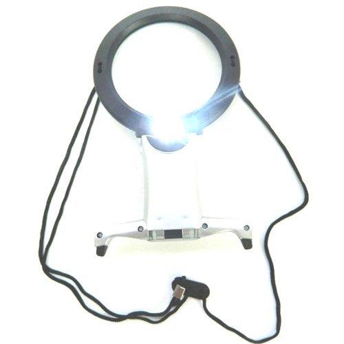 Lupe Portable zum Einhängen an den Hals - 2 LEDS, sehr hell
