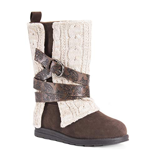 MUK LUKS Women's Nikki Boots Fashion, Oatmeal, 9 (Womens Boots Sweater 11 Size)