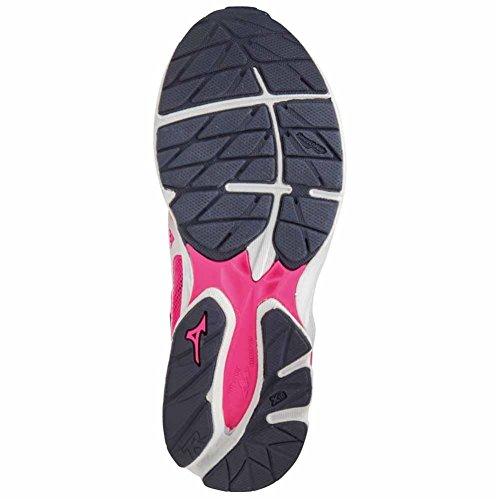 Enfant Rider sombre Chaussures JNR rose 21 Wave Running gris de Mizuno Mixte blanc fpqT8w