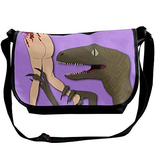 Casual Designer Fashion Bags Versipacks Anthropophagy Messenger Funny Black Bags Men's Bag Dinosaurs S1nqqT7