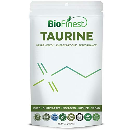 Form 500 Tablets Pet - Biofinest Taurine Powder 500mg - Pure Gluten-Free Non-GMO Kosher Vegan Friendly - Supplement for Healthy Heart, Liver, Athletic Performance, Energy, Focus (1000g)