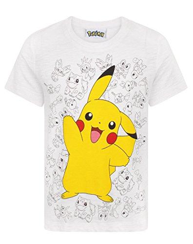 Pikachu Pokemon Wave Boy's T-Shirt (12-13 Years)