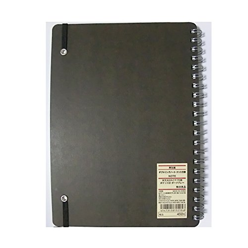 Moma Muji A5 Size 70 Sheets Hard Cover Dot Suquare Type Note Book
